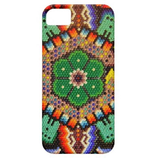 Huichol Oaxacan Mexican Ethnic Beads Peyote Flower iPhone 5 Cover