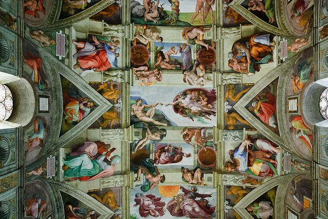 The Sistine Chapel ceiling.   I will get to see this in person when I go to Italy next July!! Woohoo!!