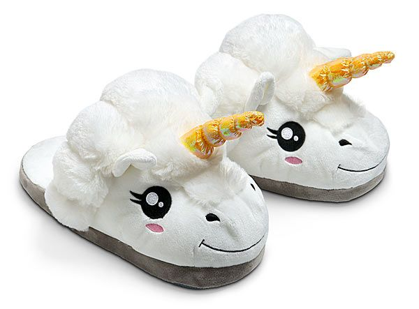 Plush Unicorn Slippers for Grown Ups --omgosh i want everything on this site...lol