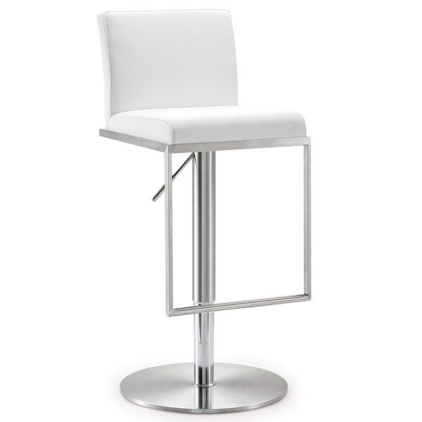 Blagg Adjustable Height Swivel Bar Stool Adjustable Bar Stools