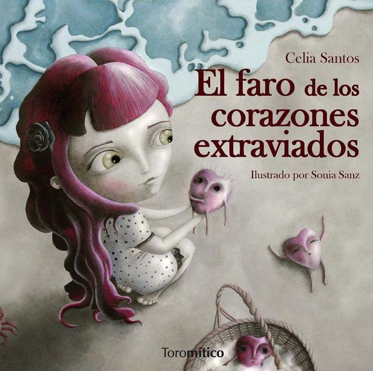 """Portada de """"El faro de los corazones extraviados"""" de Celia Santos. Ilustraciones de Sonia Sanz Escudero."""