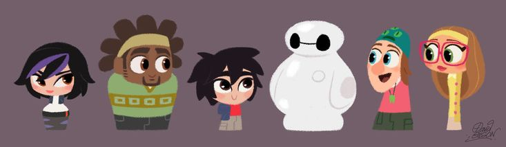 Disney's Big Hero 6 cute pawns by princekido on deviantART - SQUEE! SO CUTE AND SO PERFECT! :D