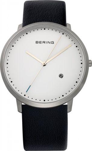 Klassisk klokke med dato fra Bering.  Safirglass og urkasse av rustfritt stål.  Ultra slim design. #bering #klokke #ur #herreklokke #classic #safirglass #danskdesign #zendesign