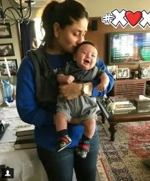 Absolutely Adorable: Check Out This Sweet Photo Of Kareena Kapoor Kissing Baby Taimur!