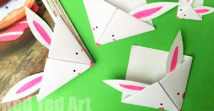 Videonávod na záložku do dětské knížky – králíček z papíru