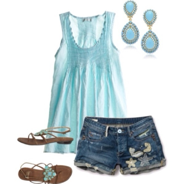 Beach wear: Shoes, Baby Blue, Summer Looks, Color, Summer Style, Summer Outfits, Summer Breeze, Summertime, Summer Time