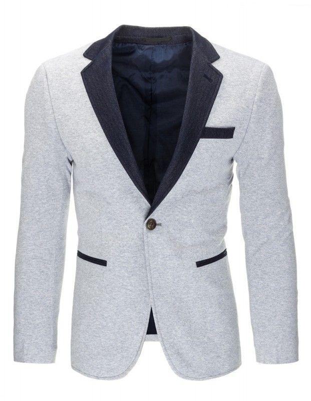Pánské sako Back - šedé