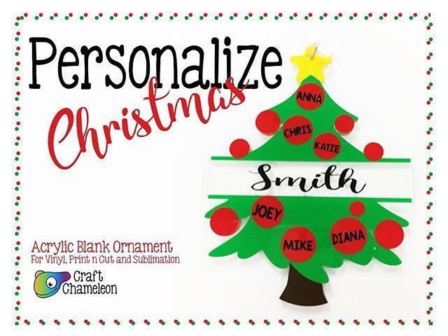 Christmas Tree Family Acrylic Blank Shape Christmas Personalized Ornament Personalized Christmas Personalized Ornaments Personalised
