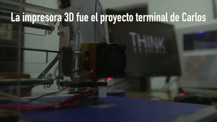 Estudiante del IPN crea impresora 3D con 2 mil pesos
