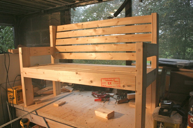 Simple garden bench plans diy pinterest for Simple garden bench designs