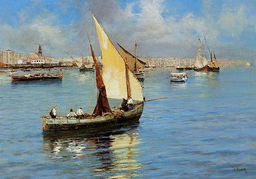 Porto Di Napoli -  Attilio Pratella (Italian, 1856-1949)