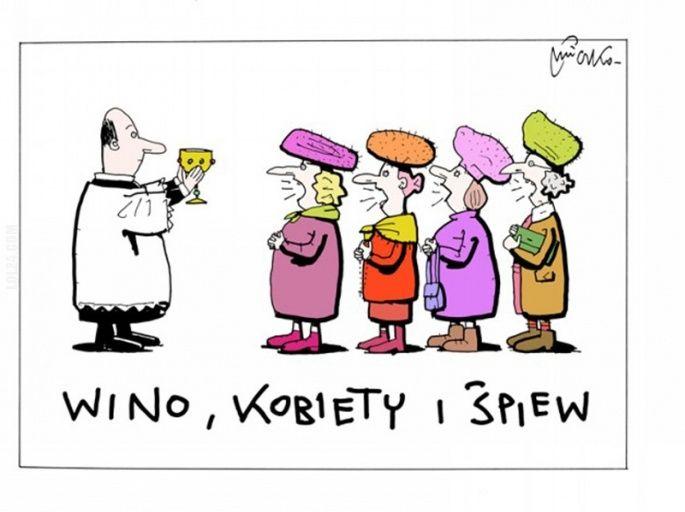 Wino, kobiety i śpiew paradaNiemcykarykaturarząd