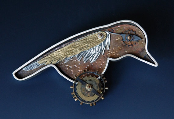 Rone Prinz Etsy Inspiration Bird Brooch Brooch Necklace