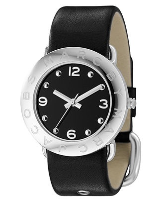 Marc by Marc Jacobs Watch, Women's Black Leather Strap MBM1140 - All Watches - Jewelry & Watches - Macy's