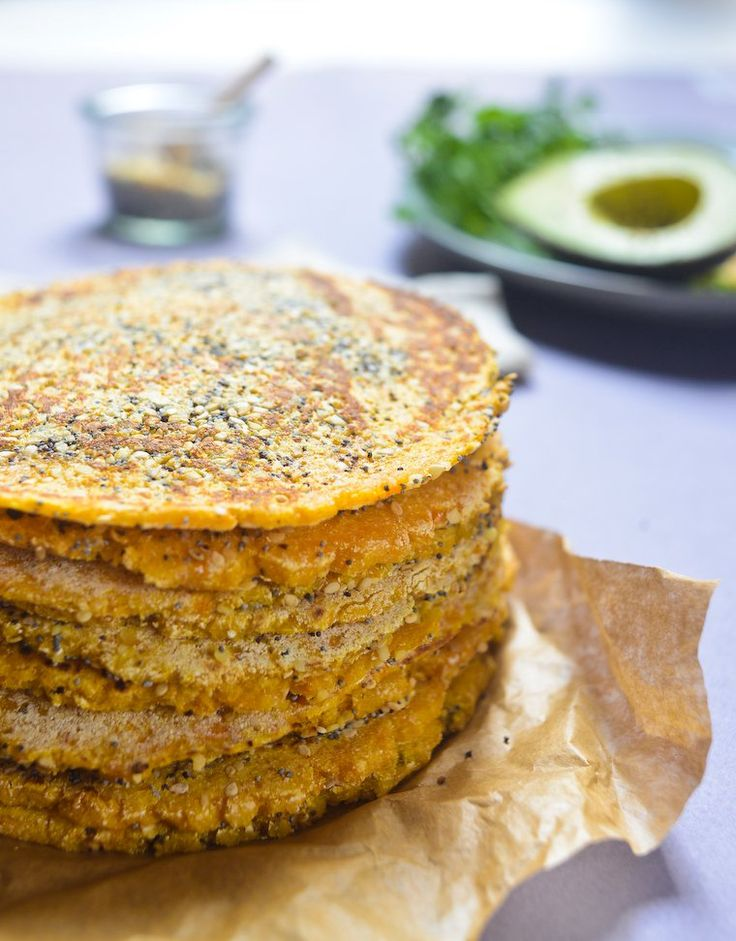"""An easy recipe to make sweet potato flatbreads, beautifully pliable and garnished with an """"everything"""" topping. Vegan and gluten free."""