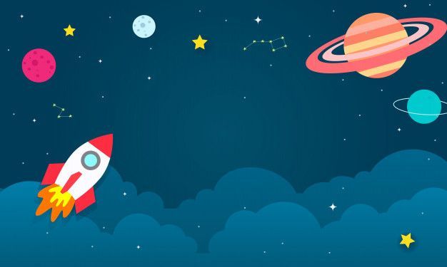 Outer space background vector illustration. Premium Vector