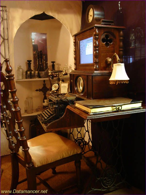 Steampunk Home Decorating Ideas Part - 40: 28 Crazy Steampunk Home Office Designs - DigsDigs