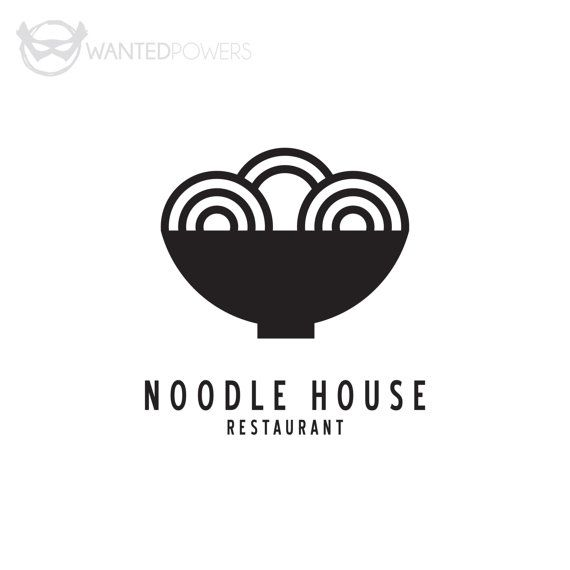 Custom Pre-Made Logo Design Noodle by WantedPowersDesigns on Etsy : Logo…