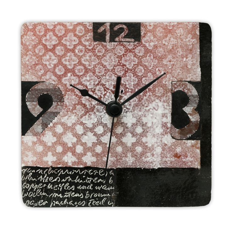 11 best painted and fused glass wall clocks images on Pinterest