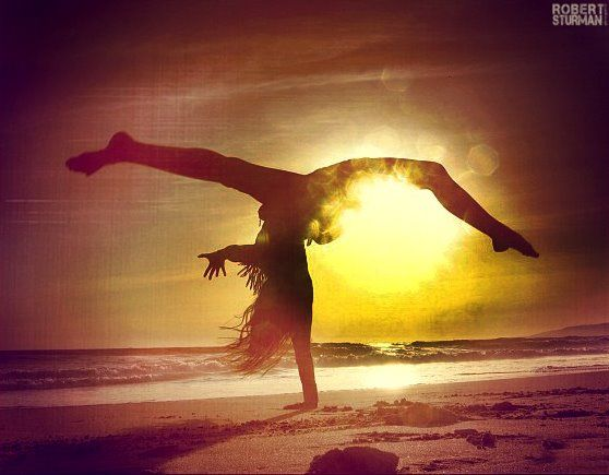 beautiful yoga arm balance