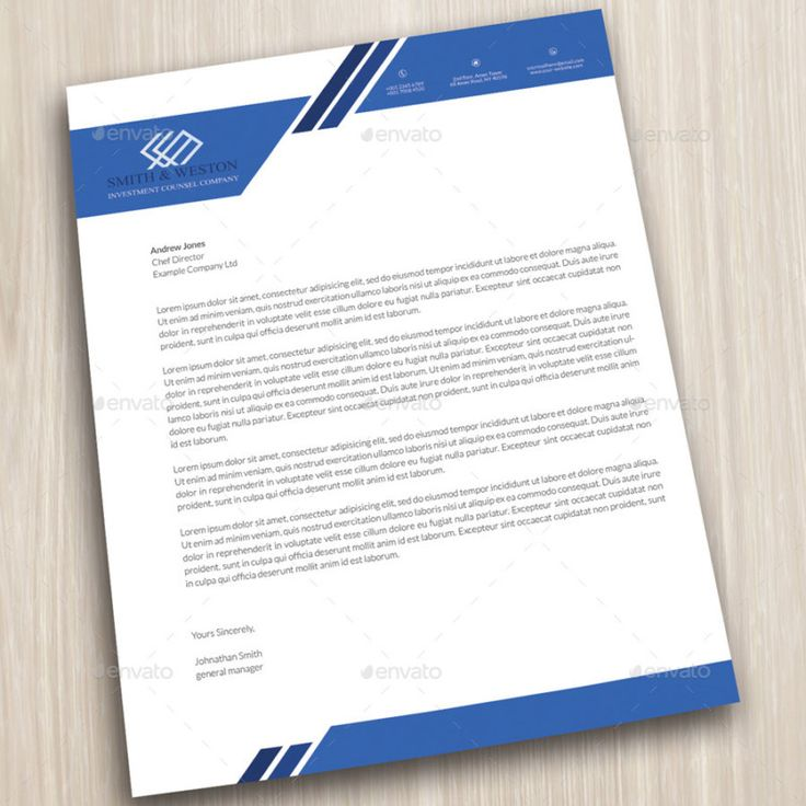 company letterhead business corporate letter head format - business letterhead