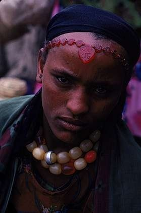 Africa | Oromo people - at the market, portraits. 1977, 1982 Ethiopia | © Robert Caputo
