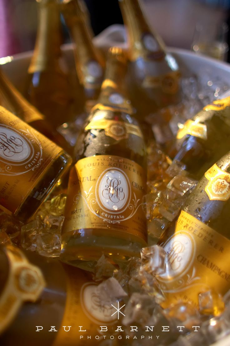 Cristal Champagne - only the best for you wedding toasts!