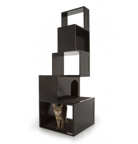 Features:  -Five separate levels for climbing and playing and space for decorations.  -Sisal scratching material on first level.  -Carpet on second and fourth levels for lounging.  -Cubby hole with hi