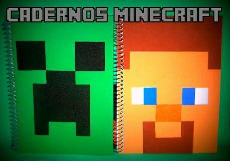 Cadernos Minecraft