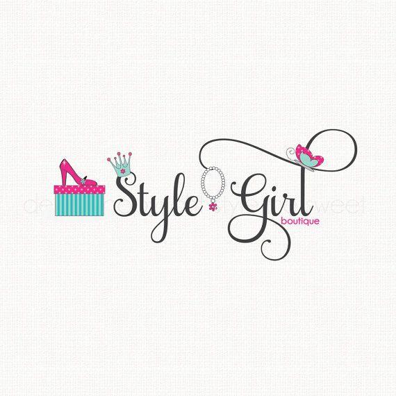 fashion logo design shoe logo design crown by stylemesweetdesign