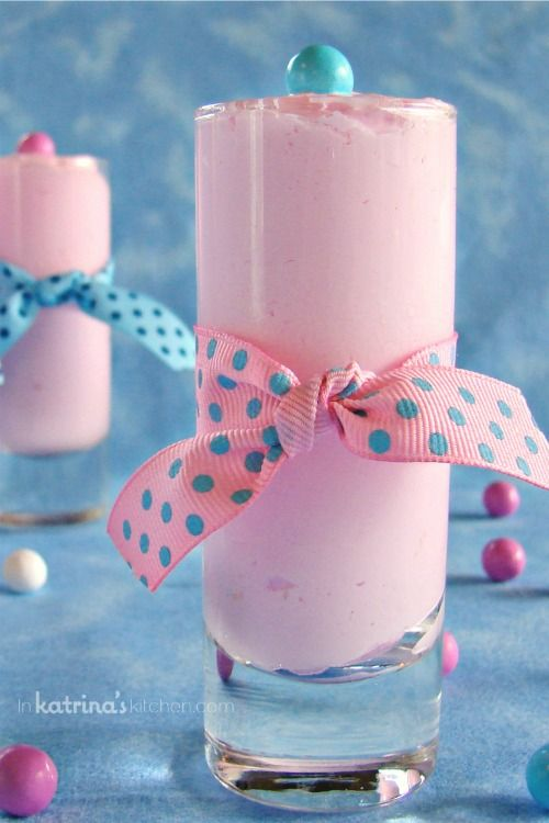 Cotton Candy Mousse Recipe ~ perfect for baby showers, Valentine's Day, or Mother's Day.