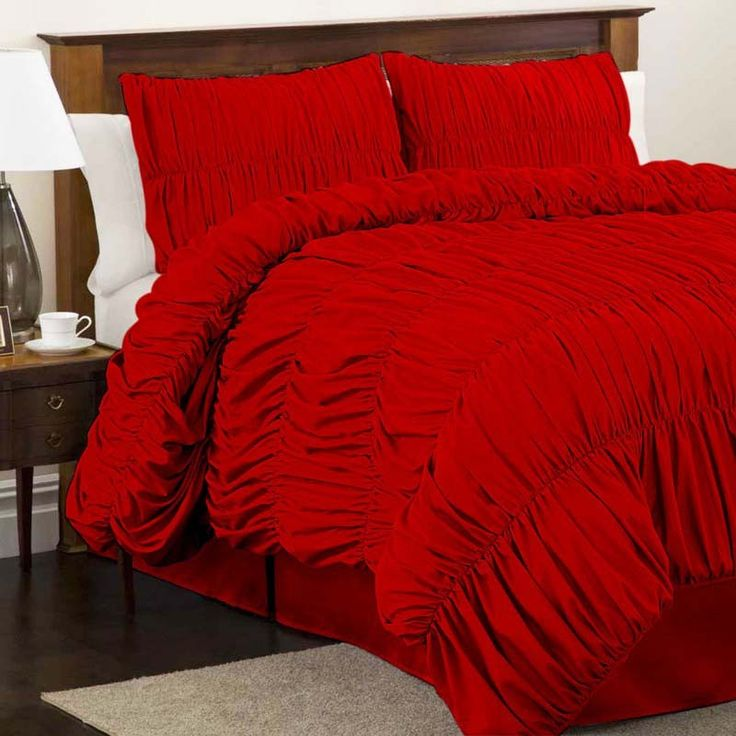 Red Comforter Sets Queen Size Lush Decor Lush Decor