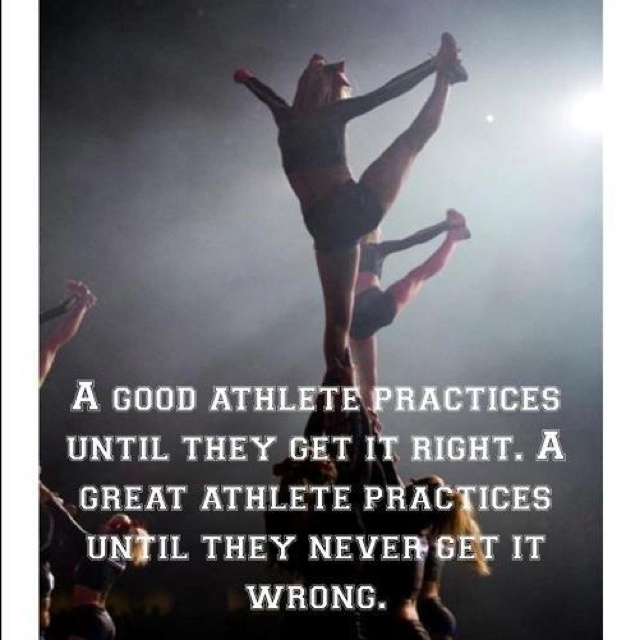 The difference between a good and great athlete.