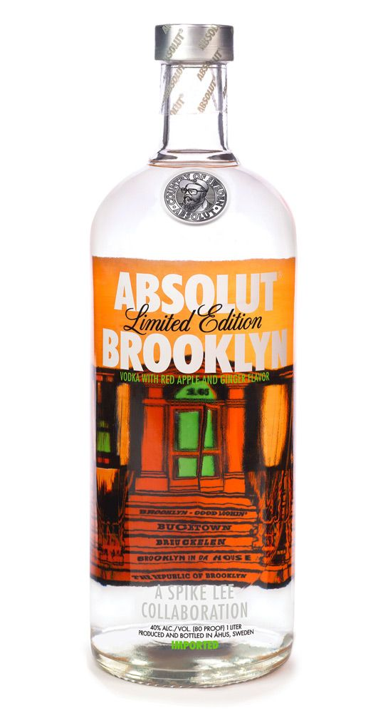 IF ONLY IT WAS STILL AROUND!! ABSOLUT BROOKLYN Vodka with red apple and ginger flavor