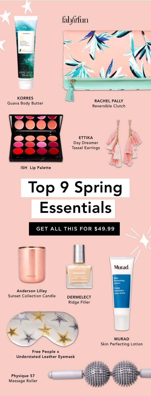 Get all the Spring Essentials - beauty, skincare, accessories + fitness - in your FabFitFun. Just $39.99 with for your 1st box with code BRIGHT!