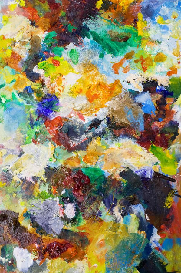 Art Colors Backgrounds. Art Backgrounds On Painting Palette With