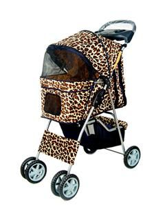 Take a walk on the wild side   with your kitty in this gorgeous leopard print pet stroller with easy assembly - it's very compact and a great way to enhance the health of indoor and active cats and relieve boredom!
