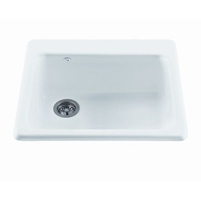 """Reliance Whirlpools Reliance 25"""" x 22.25"""" Simplicity Single Bowl Kitchen Sink Finish: Mexican Sand, Faucet Drillings: 1 Hole"""