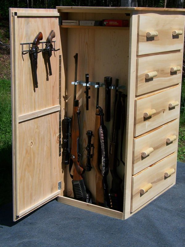 Find This Pin And More On Gun Cabinets Birchworks Custom Furniture Pine Dresser With Two Hidden Compartments