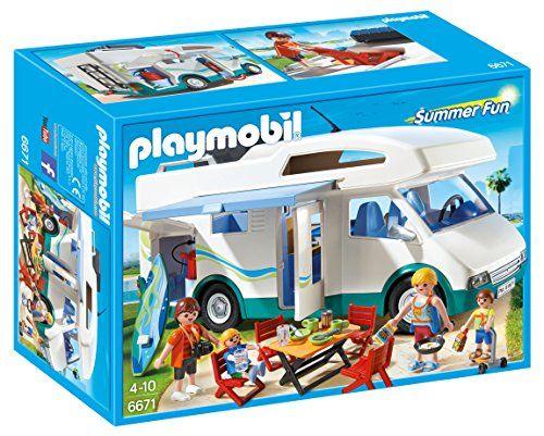 Playmobil – 6671 – Famille avec camping-car: Toute la famille est prête pour partir en vacances à bord de leur camping-car. Il est aménagé…