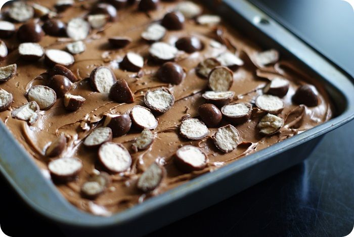 Whoppers Chocolate Malt Frosted Brownies | Desserts and Sweets | Pint ...