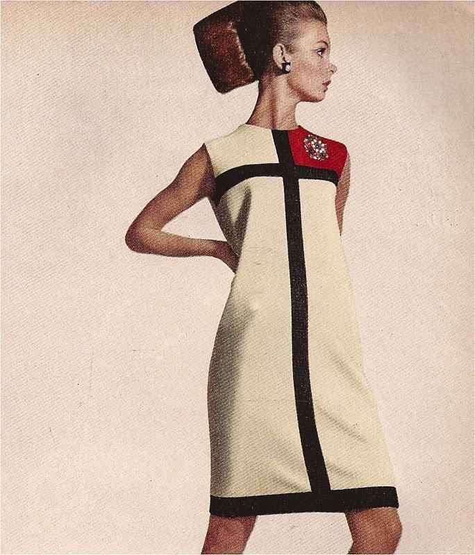 Image result for yves saint laurent mondrian dress