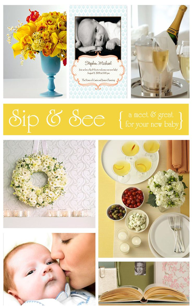 """Instead of a baby shower, host a """"sip and see"""" open house party after baby 2, 3, etc. is born. Great idea for mom's expecting a second or third child and don't need gifts. Each child gets honored in a special way. :) I have to do this for my girlies!"""