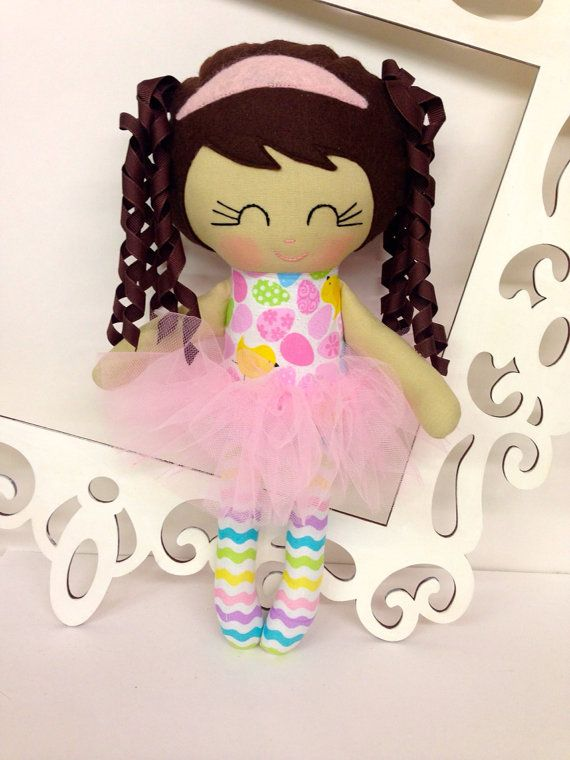 Easter doll Easter girl gift fabric dolls by SewManyPretties, $40.00