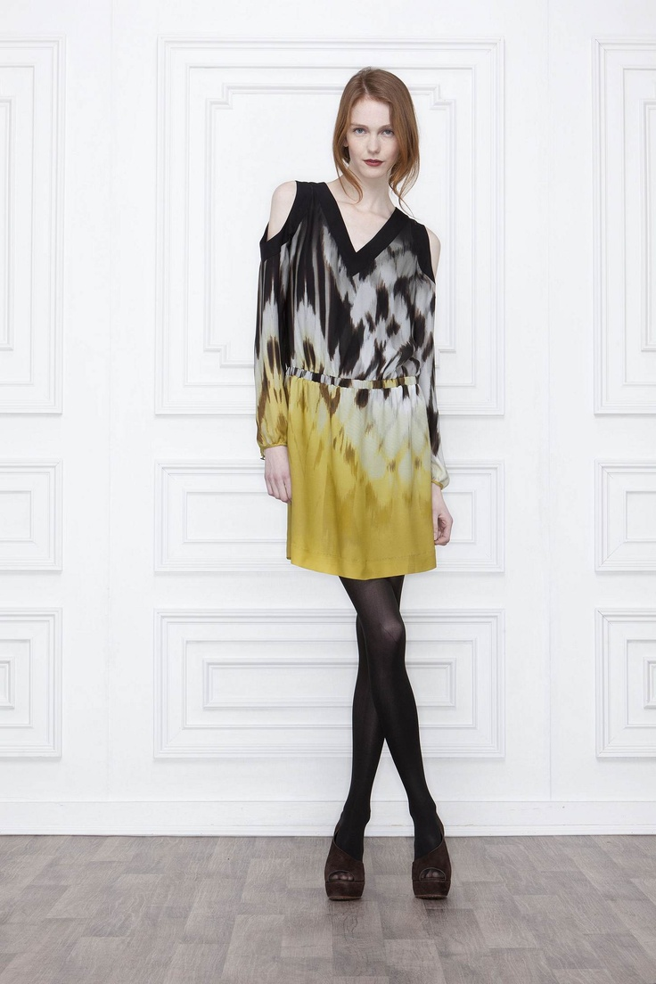 Ombre Ikat Mini-Dress