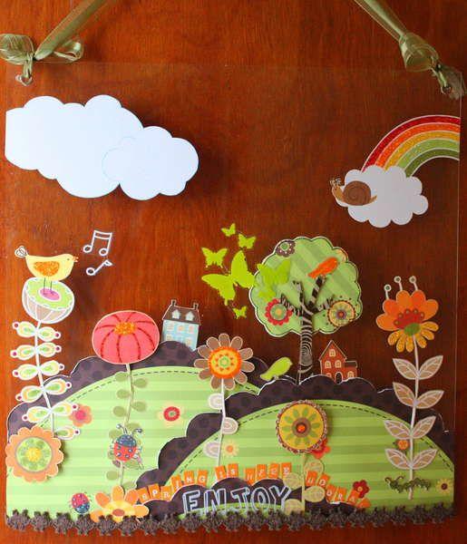 Adorable wall hanging on acrylic sheet