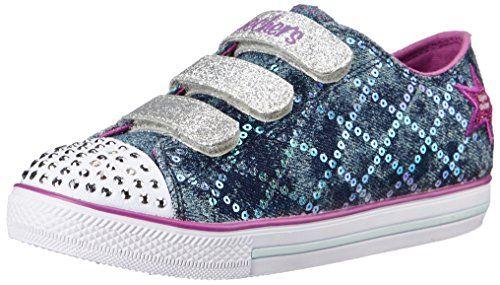 Skechers Kids Chit Chat Light-Up Sneaker (Toddler/Little Kid),Denim/Purple,12 M US Little Kid - http://all-shoes-online.com/skechers-kids/skechers-kids-twinkle-toes-prolifics-light-up-kid-79