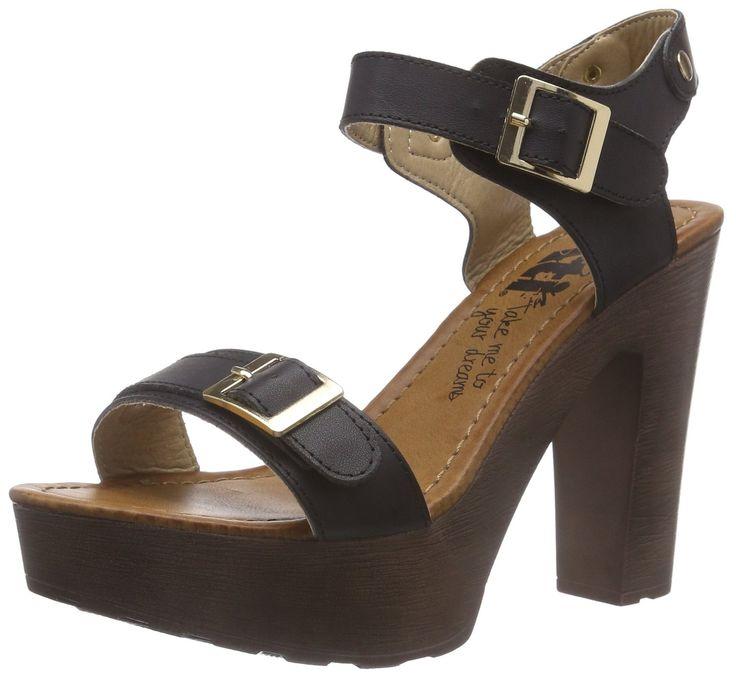 XTI 45068 Damen Knöchelriemchen Sandalen mit Keilabsatz: Amazon.de: Schuhe & Handtaschen
