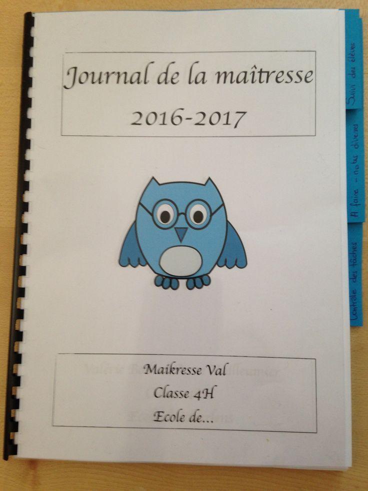 Journal de la maîtresse 2016-2017
