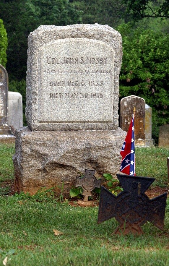 """Col John Singleton Mosby - American Civil War Confederate Army Officer. Nicknamed """"The Gray Ghost' he achieved the rank of colonel in the Confederate Army and served as a cavalry battalion commander. His command, the 43rd Battalion, 1st Virginia Cavalry, known as Mosby's Rangers or Mosby's Raiders, was a partisan ranger unit noted for its lightning quick raids and its ability to elude Union Army pursuers and disappear, blending in with local farmers and townsmen."""